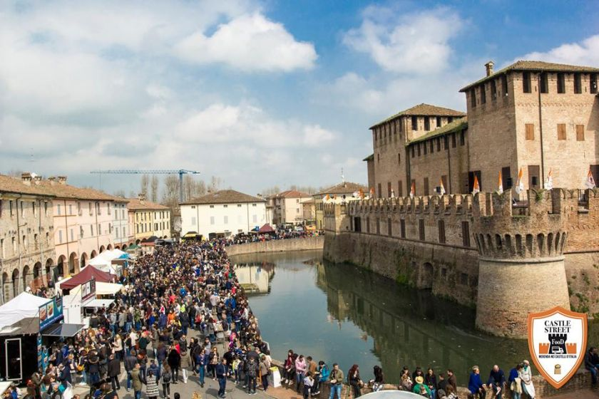 Castle street food event in italy