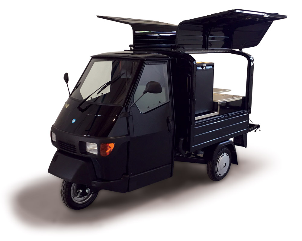 ape 50 van mobile kaffeebar piaggio caffetteria tobler. Black Bedroom Furniture Sets. Home Design Ideas
