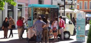 la tua cremera piaggio porter + ice-cream trailer