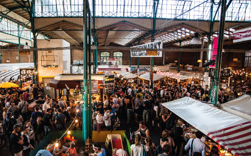 Markthalle Neun Kreuzberg is one of the biggest events for street food in Berlin