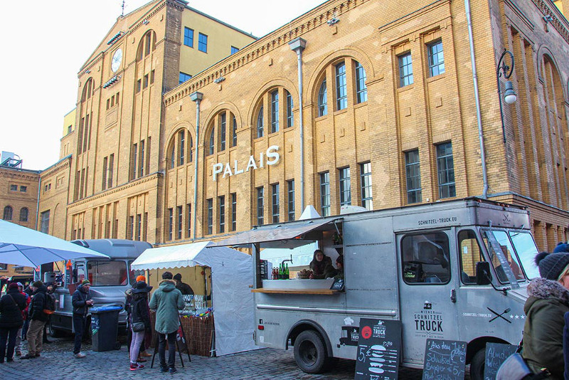 Some of the best german food trucks at the street food event in the Kulturbrauerei