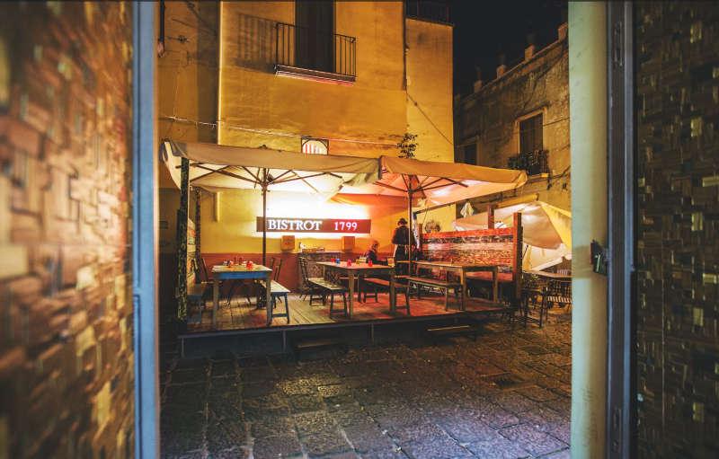1799 Bistro-Restaurant von dem Chefkoch aus Kampanien, Ciro Pane
