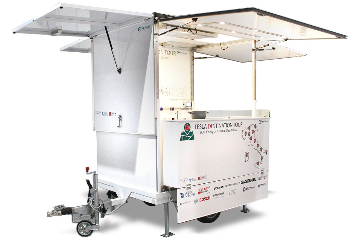 f-trailer is a food trailer mobile kitchen powered with renewable solar energy