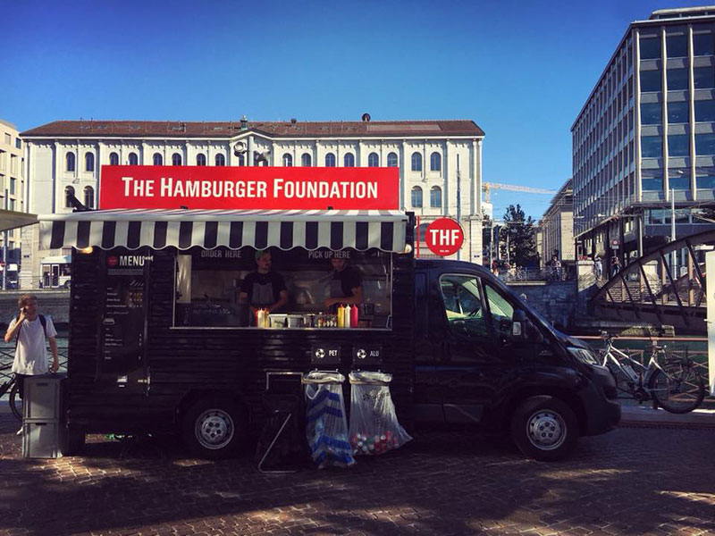 food truck nero the hamburger foundation in svizzera