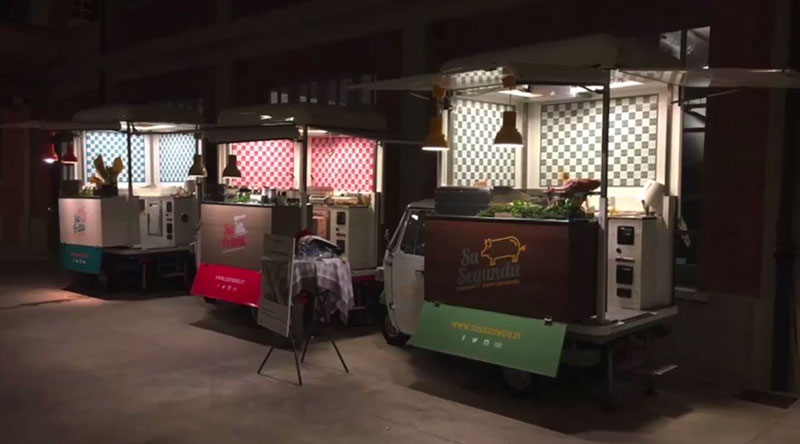 3 ape food per cucina itinerante sarda. Progetto imprenditoriale con SuFrittu, SuPrimu, SuSegundu