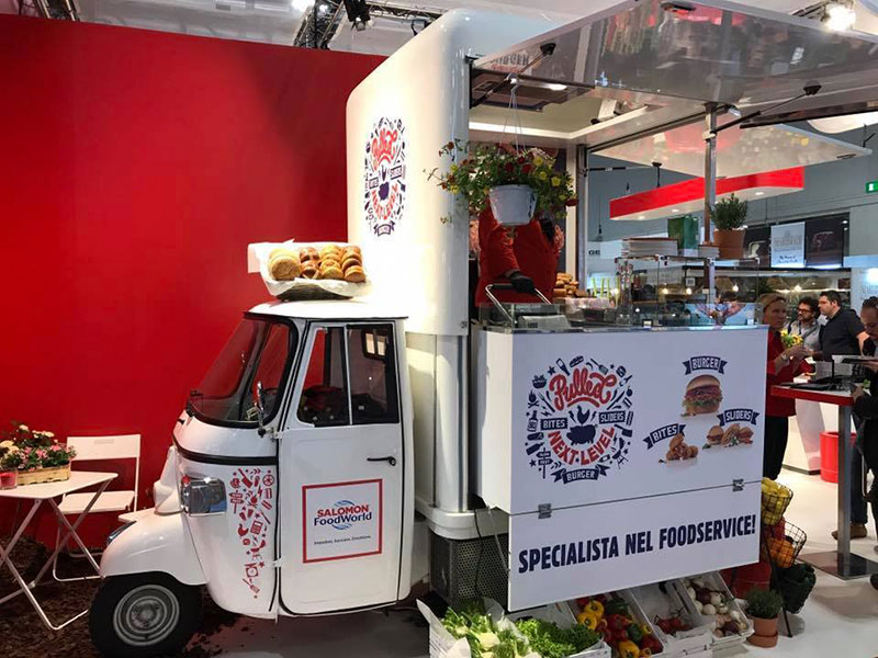 piaggio ape promotional event for salomon food world