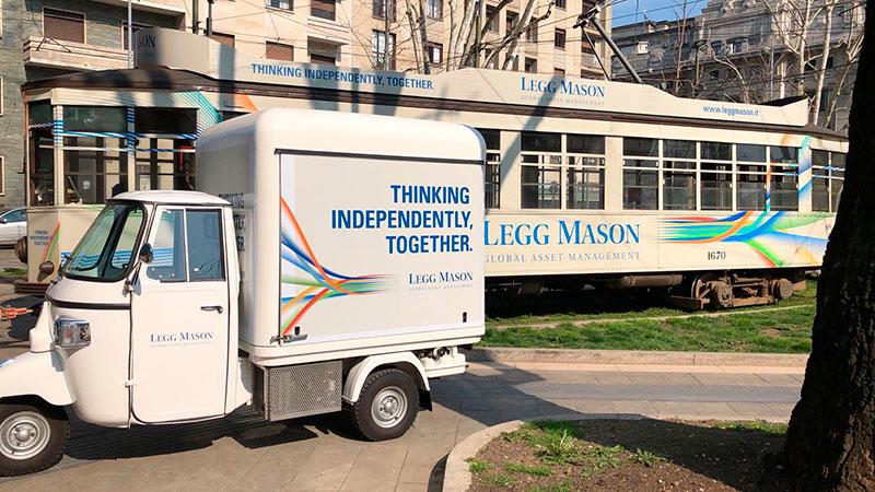 noleggio ape per tour promozionale di legg mason
