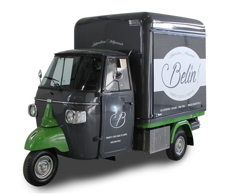 belin ape food truck for vending ligurian food products