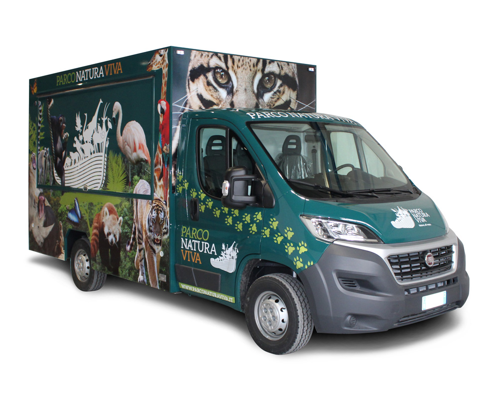 food truck ducato for parco natura viva in bussolengo natural park in italy
