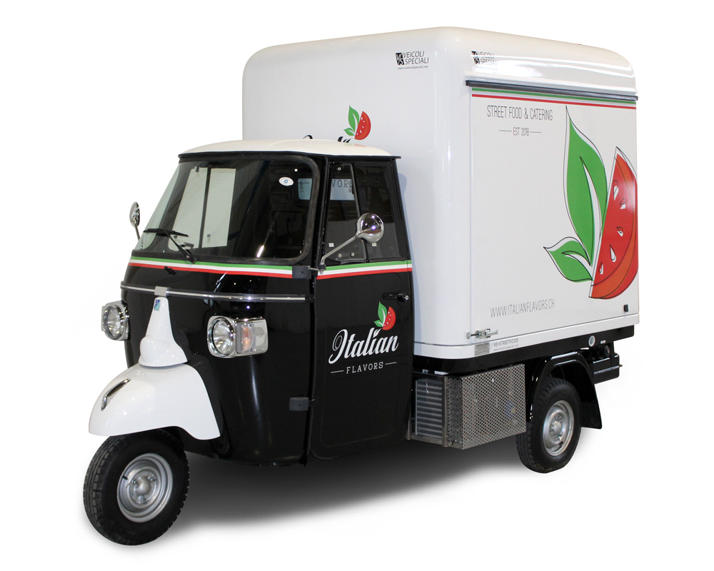piaggio food van for catering service at events italian flavors