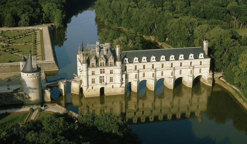 château du chenonceau vue aérienne