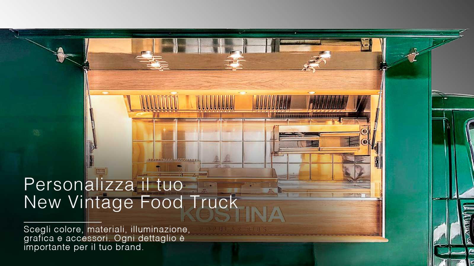 food truck vintage citroen nuova versione del veicolo d'epoca