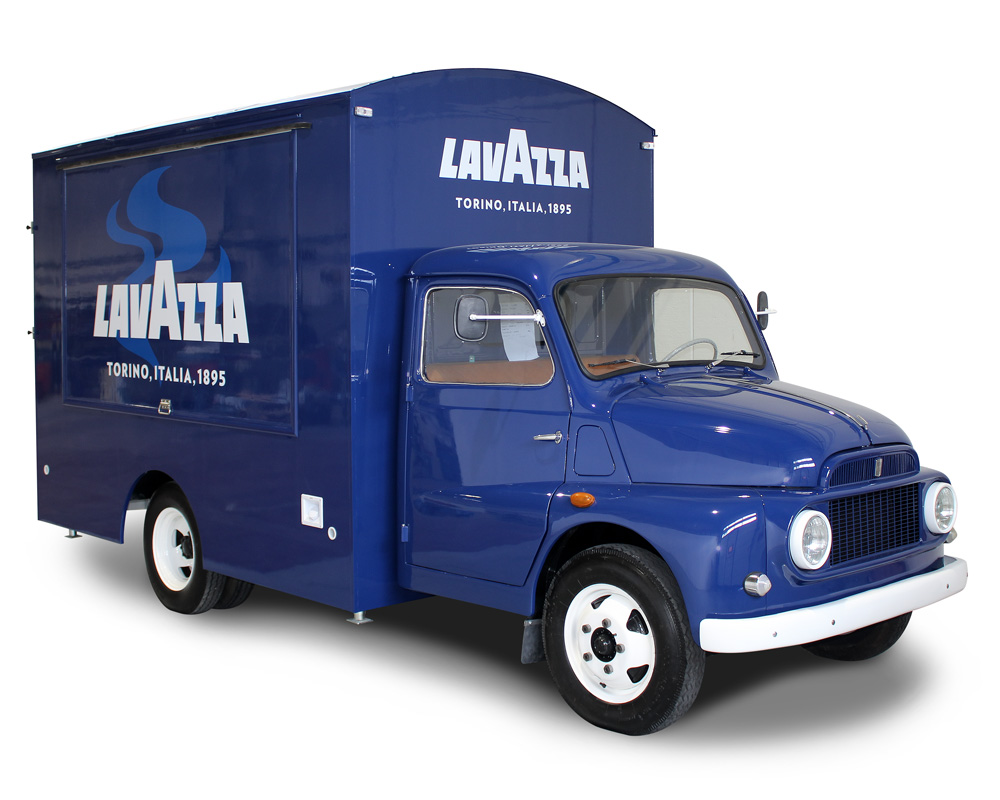 lavazza food truck fiat 616 for promoting italian coffee in Switzerland