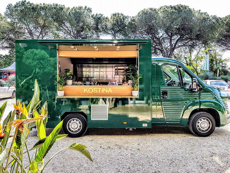 food truck vintage nuovo kostina per promozione aziendale