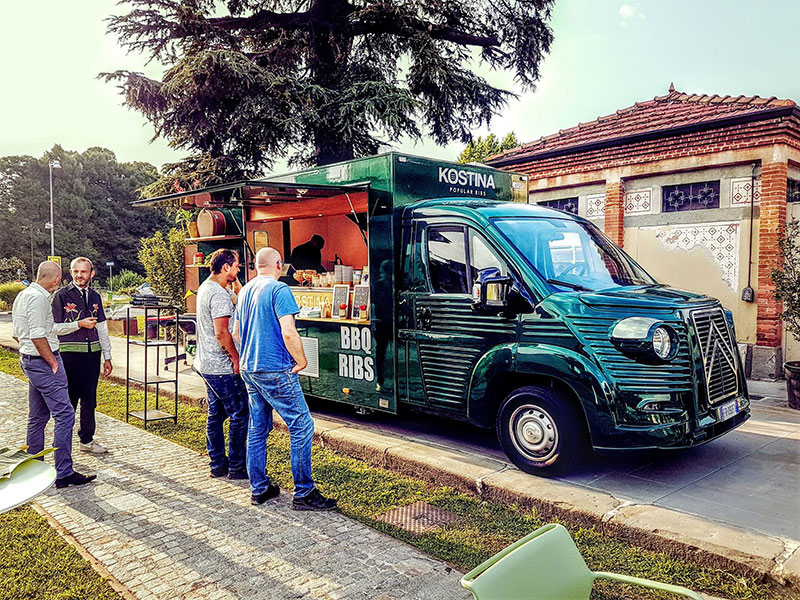 kostina vintage food truck offers food catering service at private and public events
