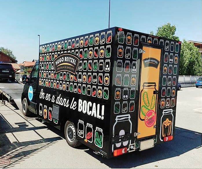 reitzel promo truck for products exposition