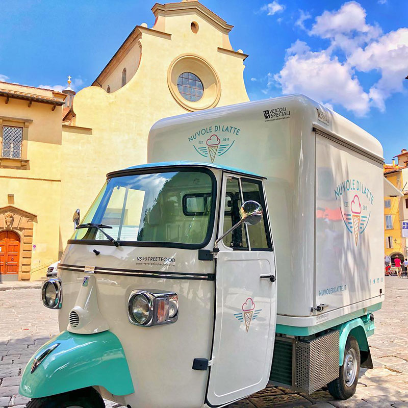 nuvole di latte moving icecream shop in florence