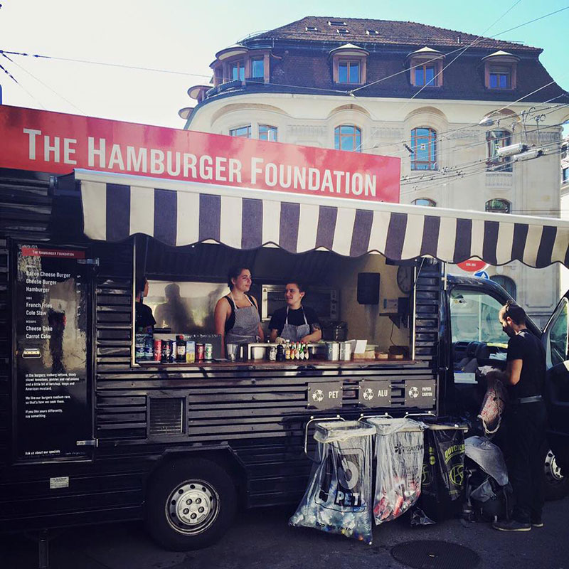 the hamburger foundation food van in geneva