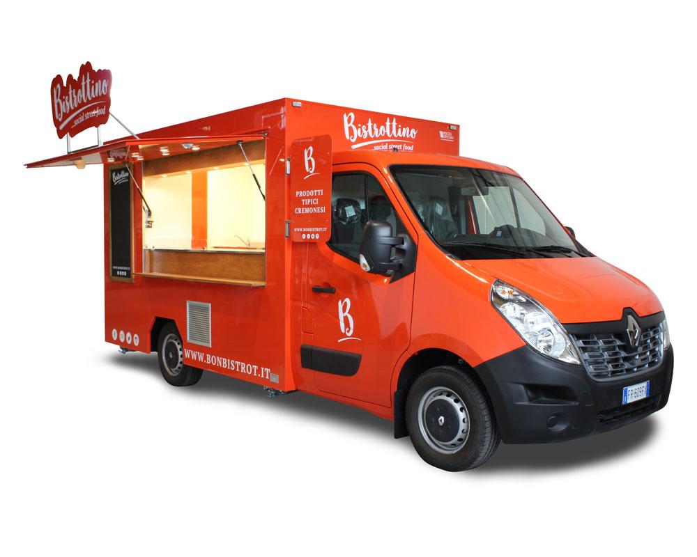 ristorante mobile con cucina professionale per bonbistrot di cremona