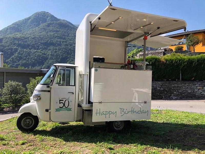 noleggio ape per festa compleanno in svizzera