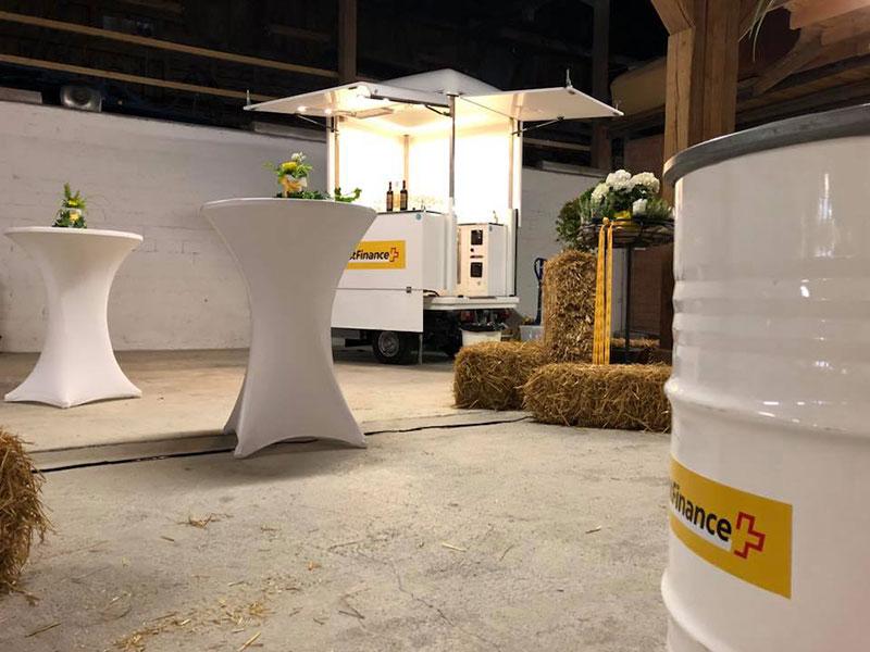 post finance noleggio ape car evento aziendale lancio servizio