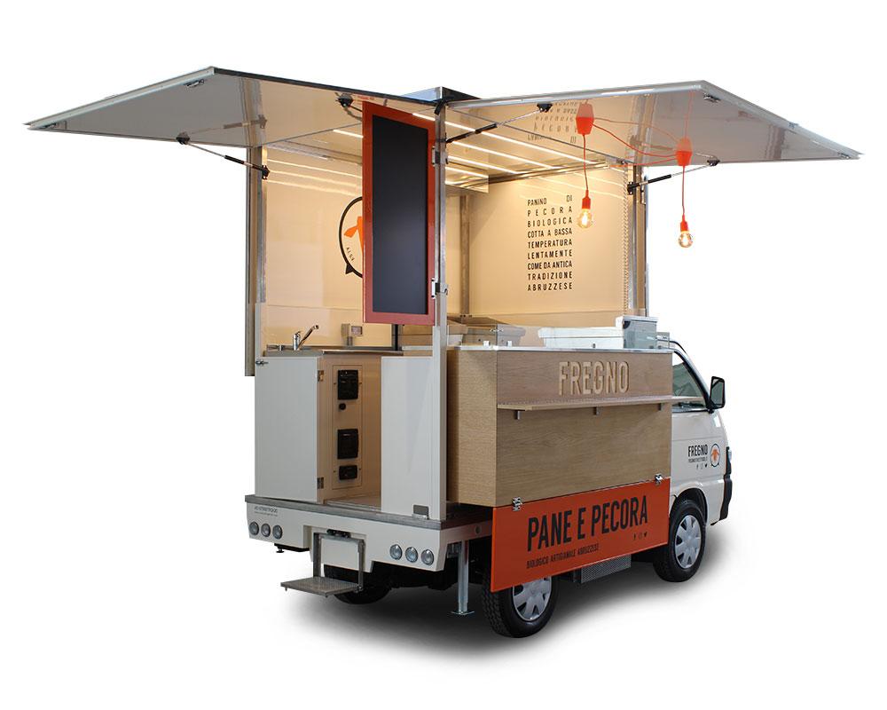 piaggio porter fregno panino callara veicolo per lo street food a Milano