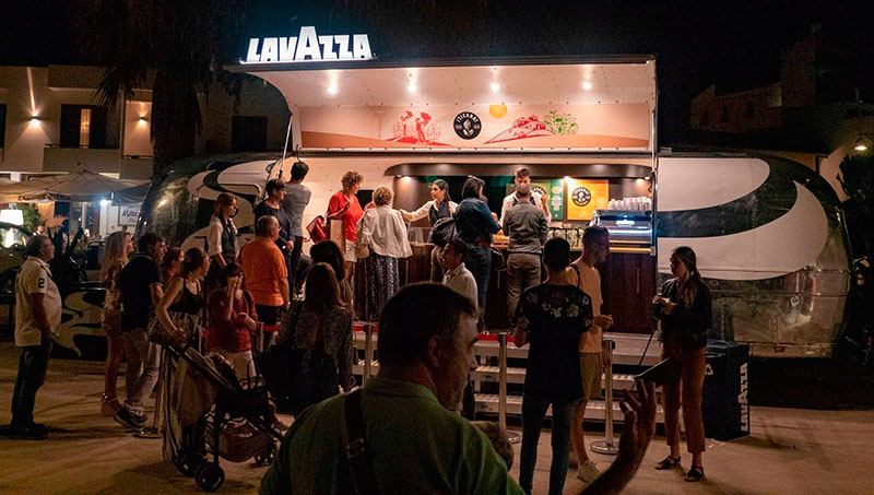 lavazza airstream promo truck designed for branding at events and street trading