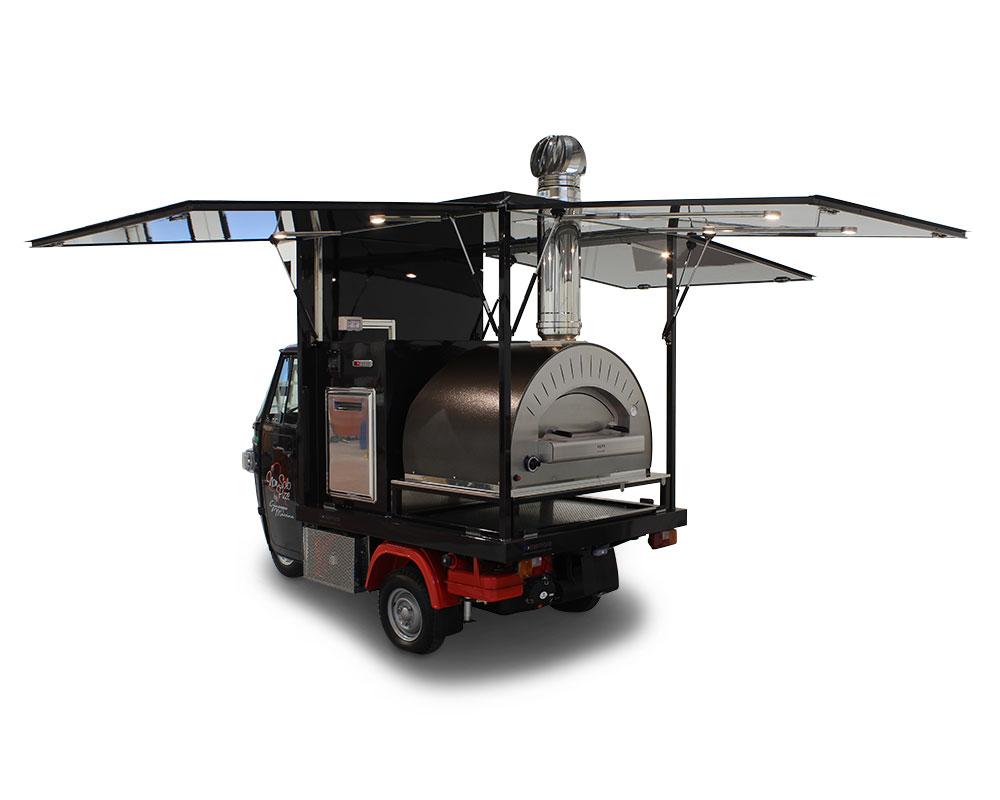 ape pizza food truck chef giuseppe messina pour promouvoir son restaurant à paris