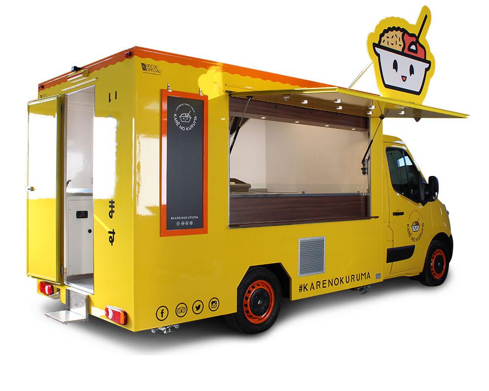 food truck giallo renault master kare no kuruma