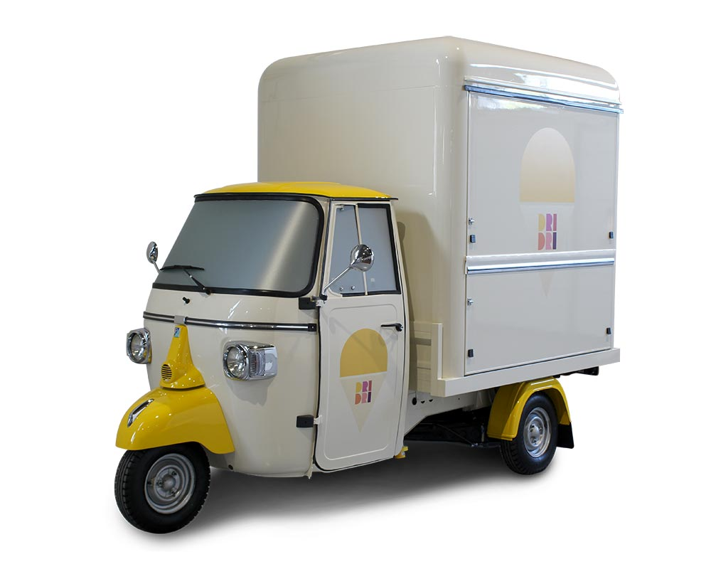 "icecream shop on 3-wheels piaggio ape vsmart ""dri dri"""