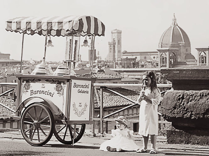 old ice-cream cart