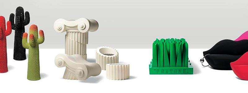 Gufram prodotti di design per interni - cactus, sedute, poltrone