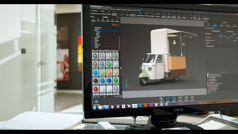 custom food trucks designer - colors produced by lechler and customized trucks based on the study of color trends in the project laboratory at VS production factory