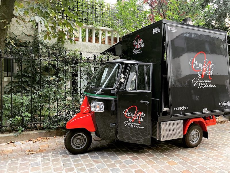 non solo pizza truck in paris purchased for itinerant promotion and selling baked pizzas
