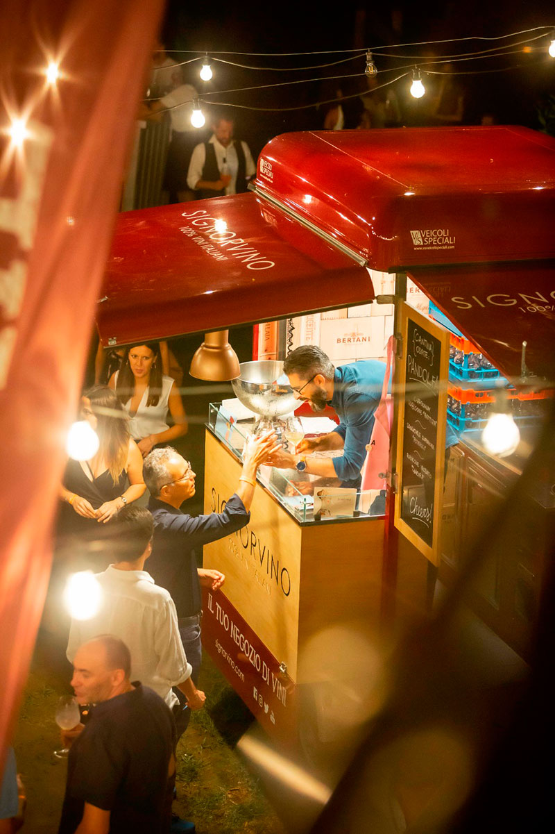 the mobile wine shop signorvino starts up a piaggio food truck to promote the brand and sell wines in street food mode