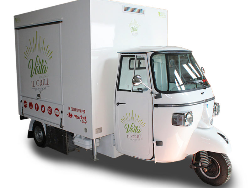 Mobile Commercial Kitchen Piaggio Ape TR Carrefour