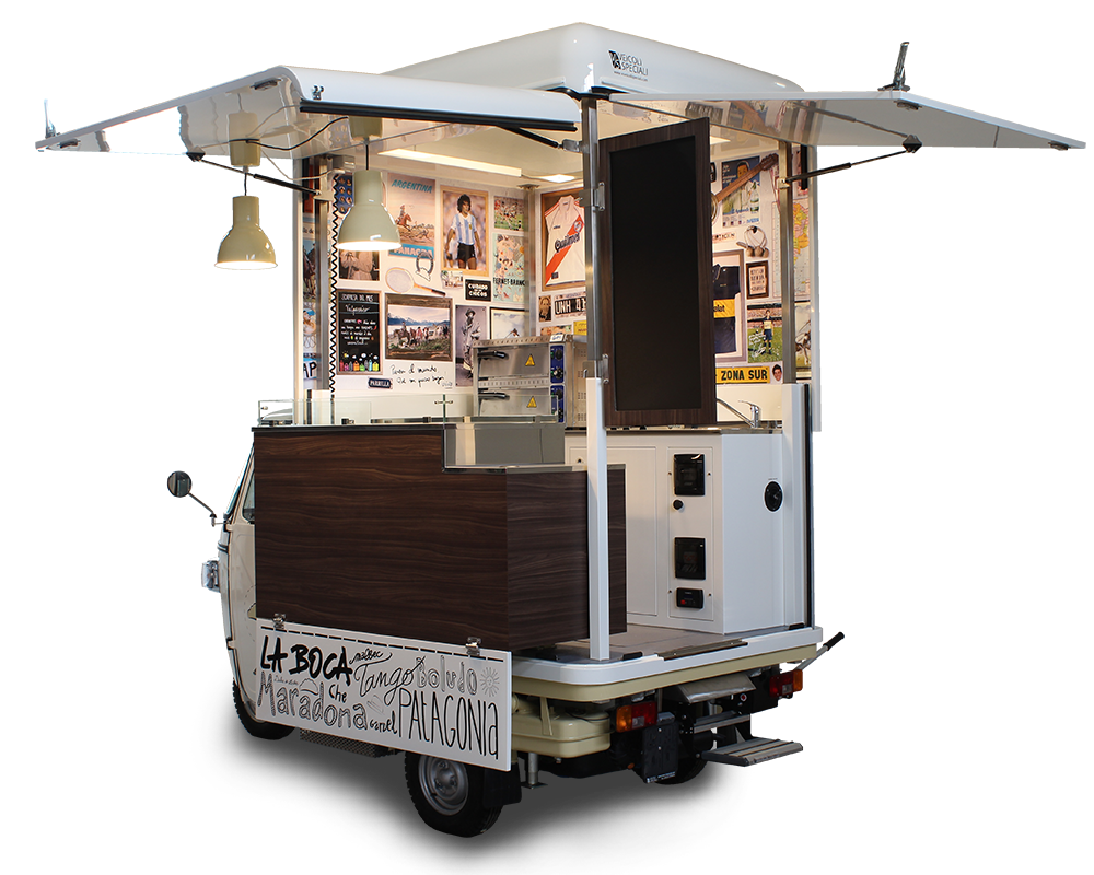 allestimento mini food truck piaggio empanadas club