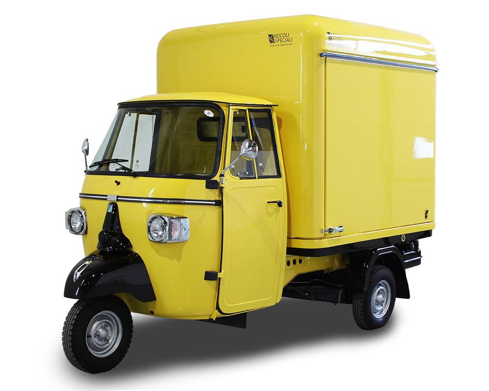 mobile brewery piaggio ape vcurve designed for Eguia brand of craft beers