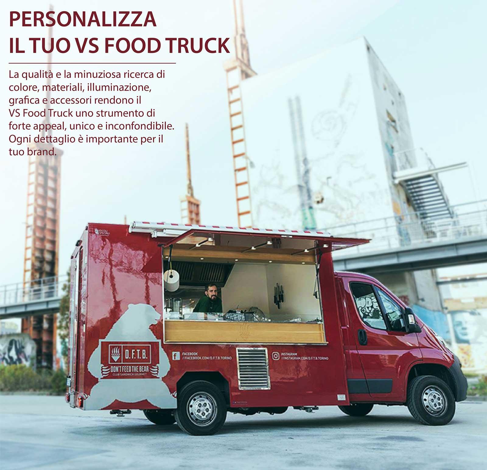 Professional food truck per ristorazione mobile e promozione del brand