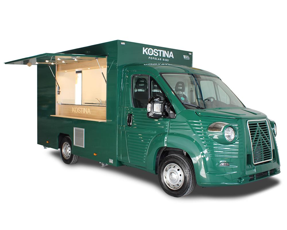Kostina NVFT food truck per catering a eventi aziendali e fest private - furgone street food noleggiabile