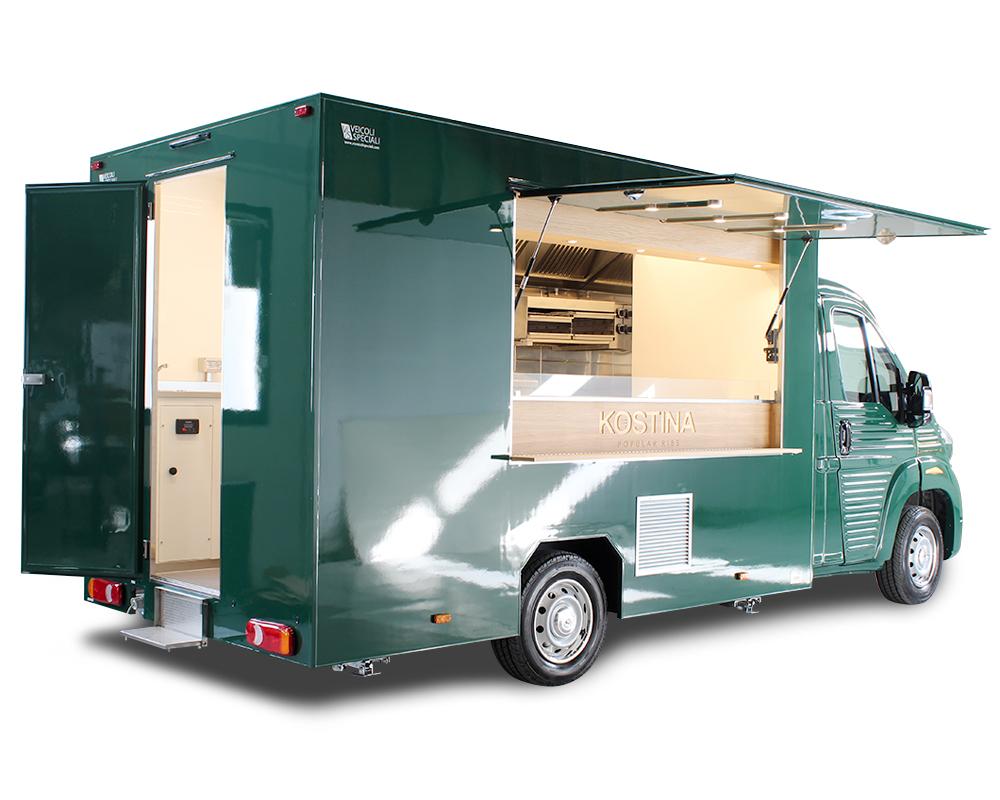 Kostina food truck citroen ristorante itinerante per preparazione costine di carne fondenti e altri piatti gourmet