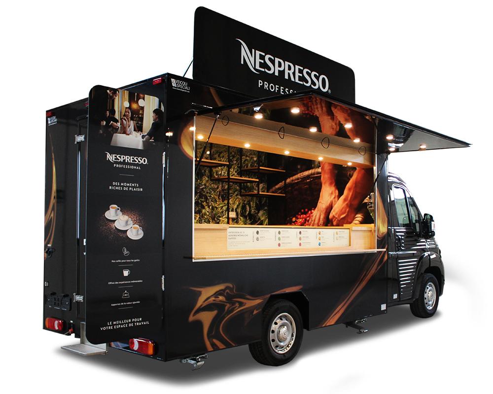 caffe truck nespresso citroen jumper convertito in caffetteria mobile