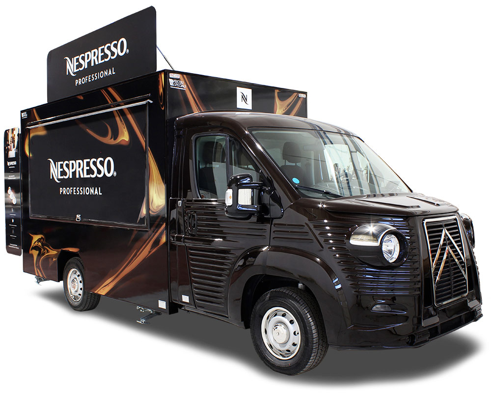 Traveling Café Nespresso Mobile Coffee Shop traveling café to sell coffee and advertise professional coffee machines