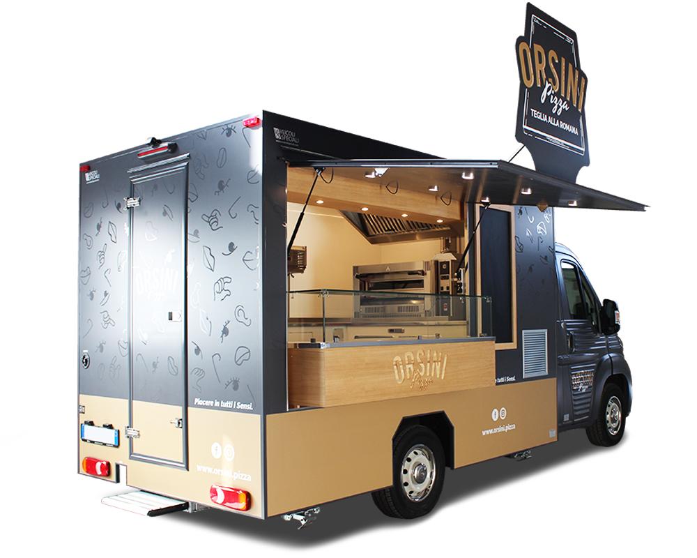 nuovo citroen jumper pizza truck attrezzato per il settore della ristorazione