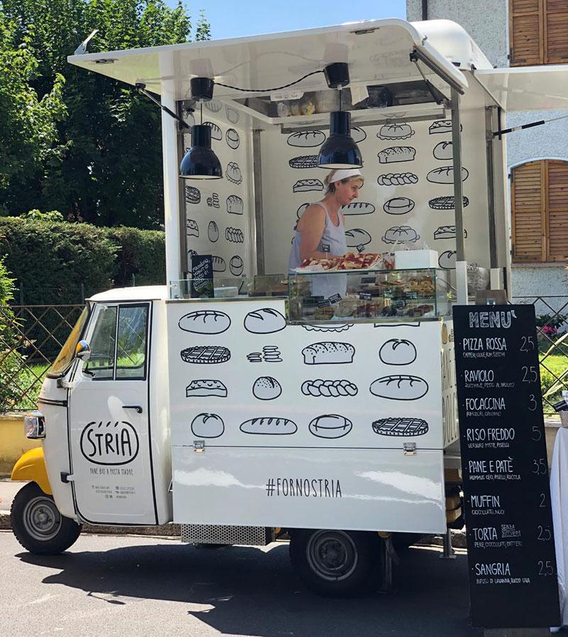 panetteria artigianale compra food truck ape per promuoversi su strada e vendere i suoi prodott su panificio mobilei