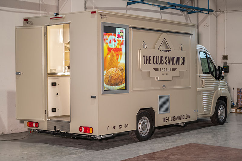 food truck set-up with health authorization provided by the VS manufacturer