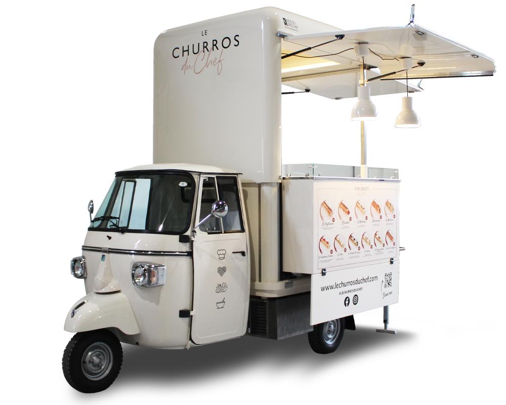 allestimento ape food truck churreria mobile Piaggio