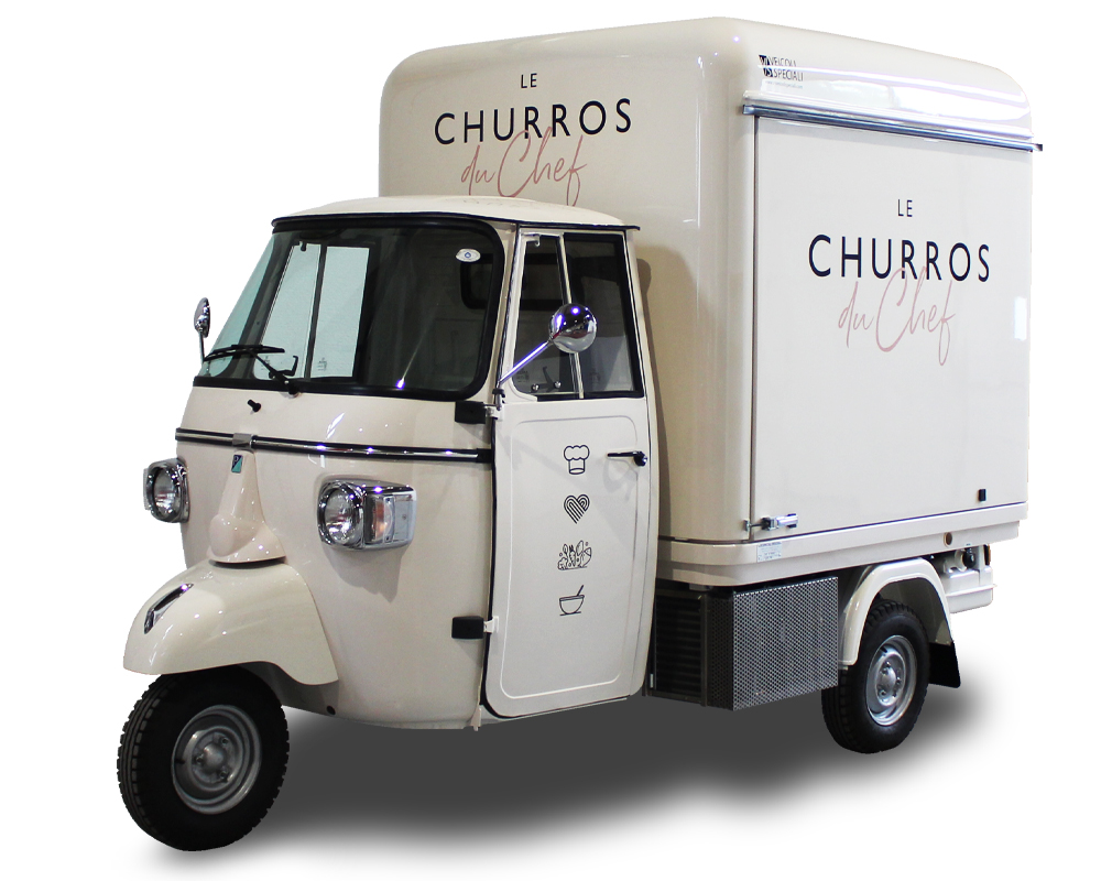 allestimento ape food truck les churros du chef