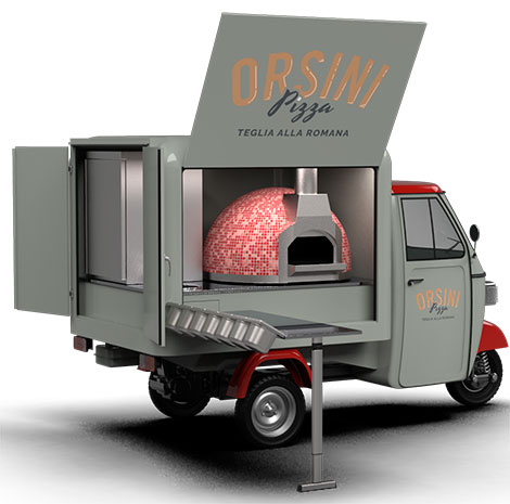 electric pizza apecar i.APPY street food