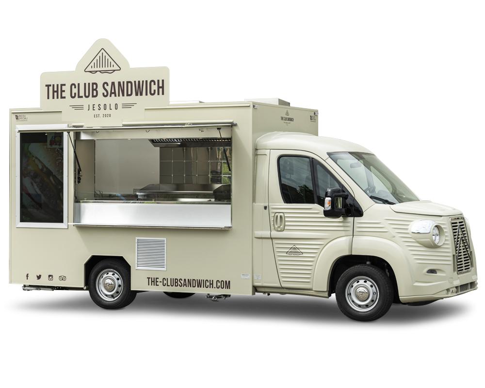 furgone ambulante club sandwich truck con cucina professionale